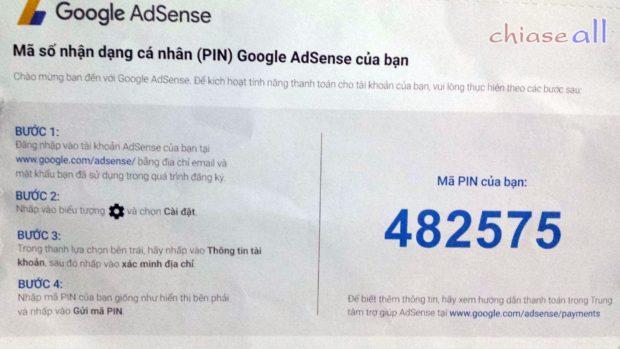 mã pin google adsense là gì?