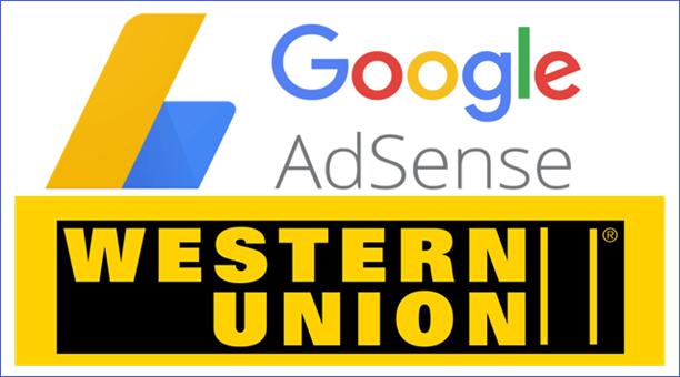 nhận tiền từ google adsense thông qua western union