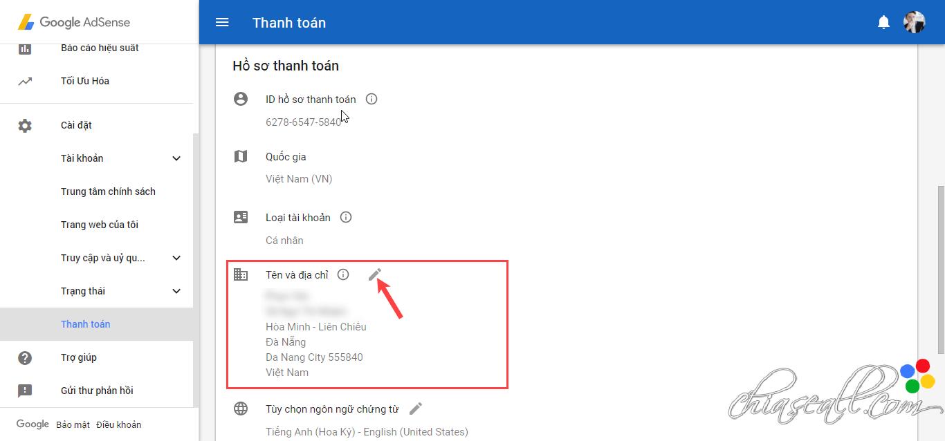cách điền thông tin nhận mã PIN Google Adsense