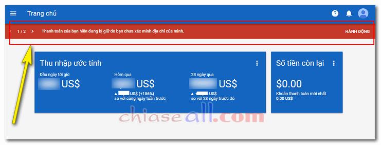 Cách nhập mã PIN Google Adsense