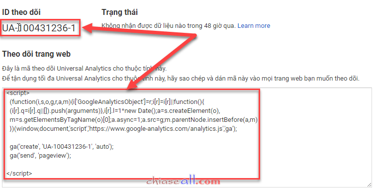 google analytic 5 chiaseall