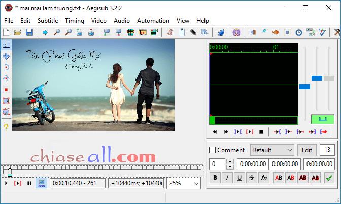 làm video lyric karaoke bằng megui