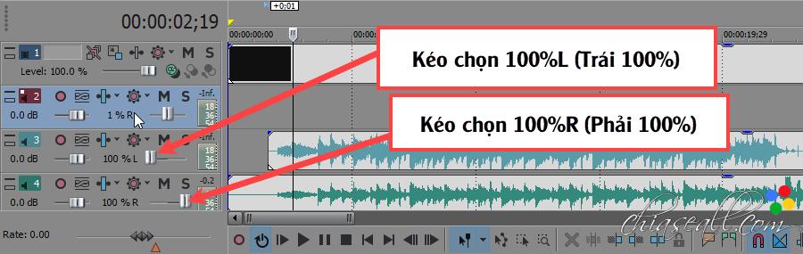 2 kênh âm thanh trên video karaoke