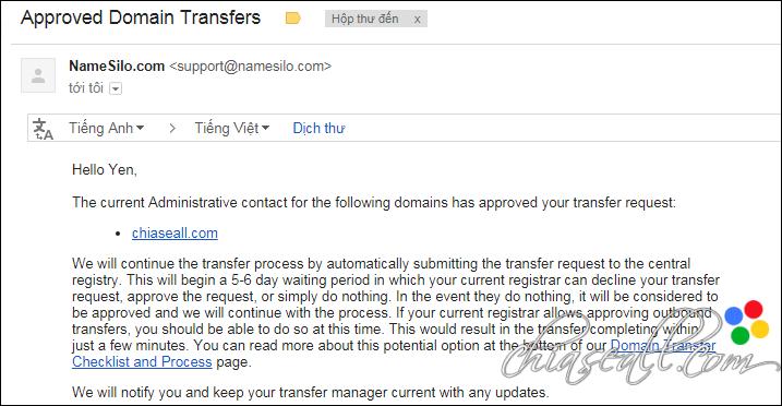 transfer domain from godaddy to namesilo 11