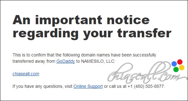 transfer domain from godaddy to namesilo 20