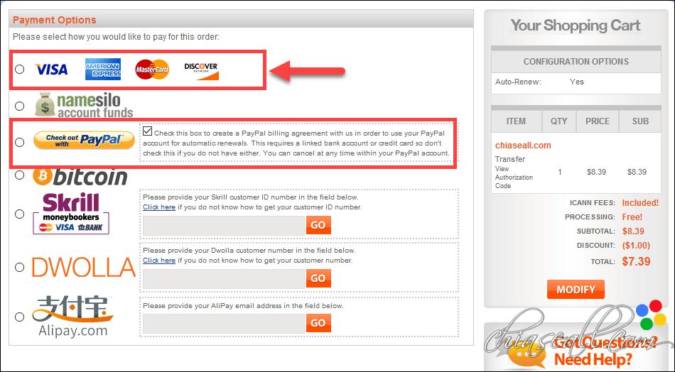 transfer domain from godaddy to namesilo 4
