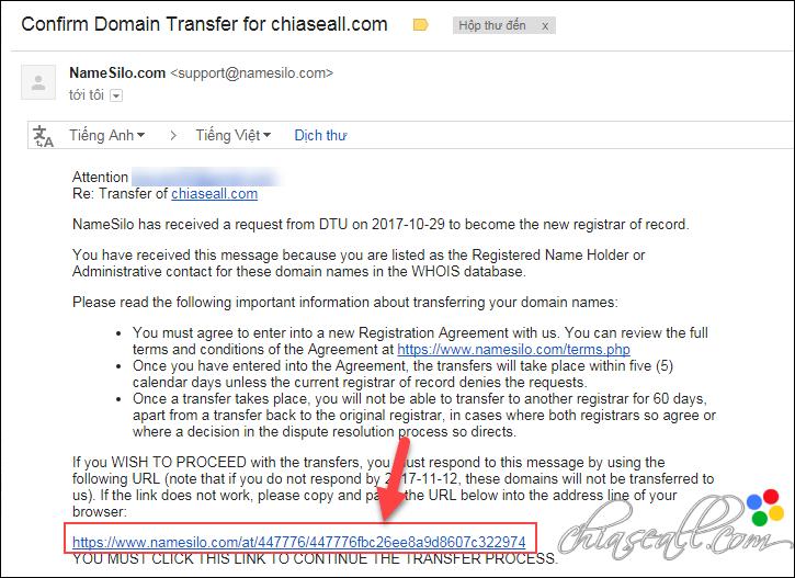 transfer domain from godaddy to namesilo 9