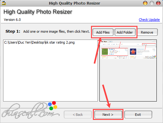 giảm kích thước ảnh bằng high quality photo resizer