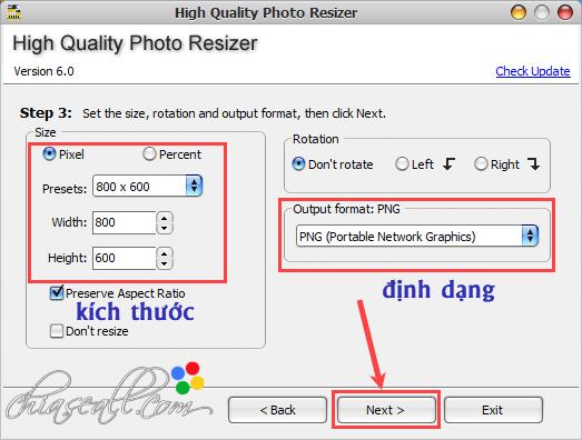 thay đổi kích thước ảnh không bị vỡ bằng high quality photo resizer
