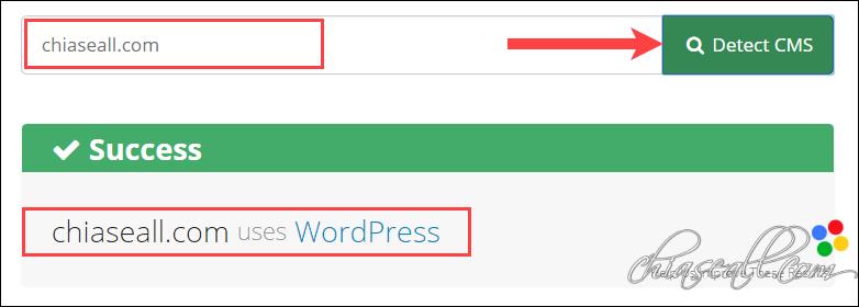 cách kiểm tra website sử dụng wordpress hay không