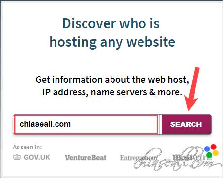 kiểm tra host của 1 trang web