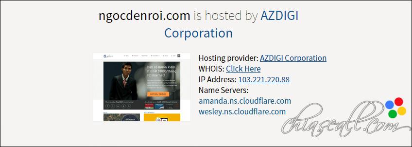 cách kiểm tra host của 1 trang web