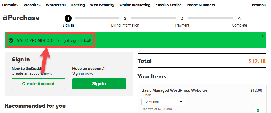 valid promotioncode