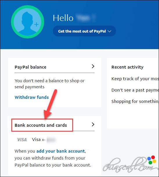 xác thực tài khoản paypal bằng visa
