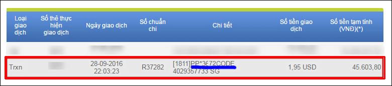 lấy mã 4-digit code paypal