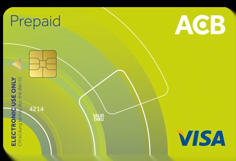 làm thẻ visa Prepaid ACB thanh toán quốc tế