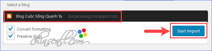 chuyển Blogsport sang WordPress dùng plugin