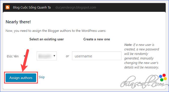 chuyển webiste từ blogspot sang wordpress