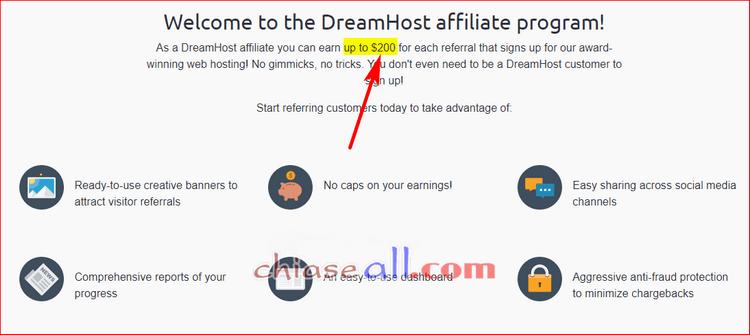 hoa hồng tiếp thị liên kết dreamhost
