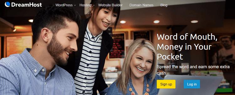 tiếp thị liên kết hosting dreamhost