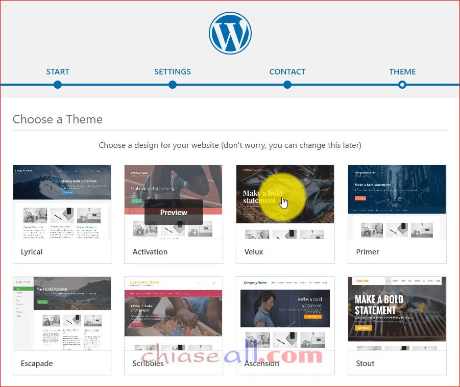 cai dat wordpress tren hosting godaddy cpanel 11.1