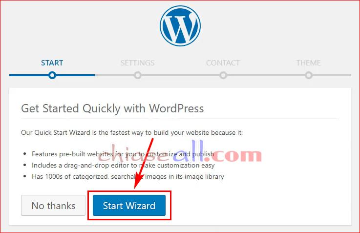cai dat wordpress tren hosting godaddy cpanel 8