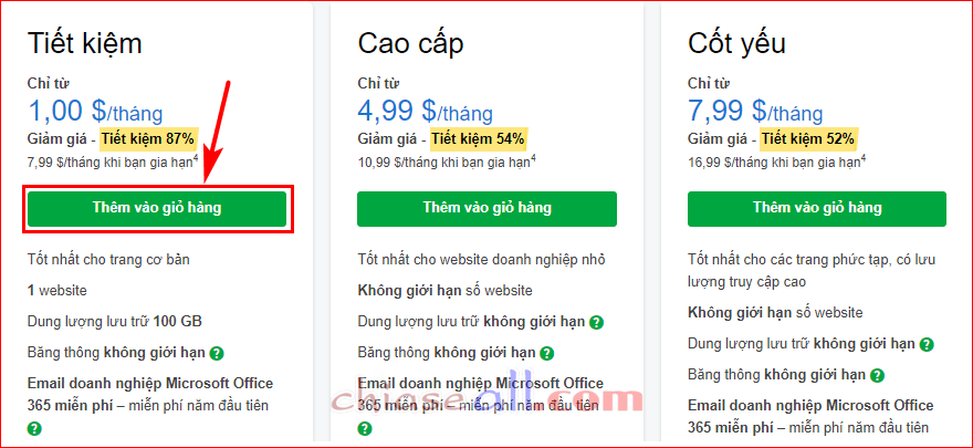 dang ky hosting godaddy co cpanel 3