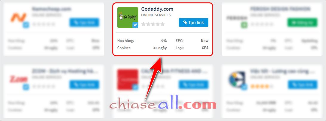 godaddy affiliate tren accesstrade 1