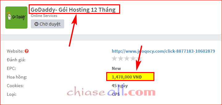 godaddy hosting 12 thang accesstrade