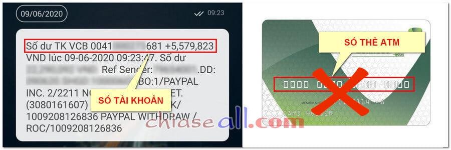 sự khác nhau giữa số thẻ atm và số tài khoản ngân hàng