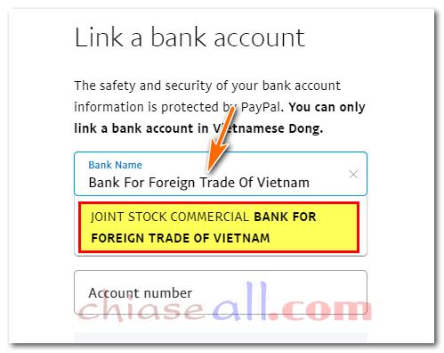 thêm ngân hàng paypal