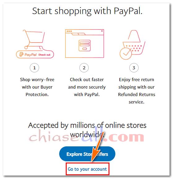đăng ký tài khoản paypal thành công