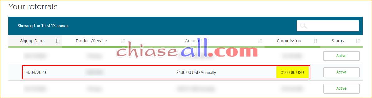 kiếm tiền với tiếp thị liên kết hosting