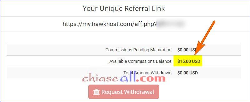 Nhận ngay 15$ khi tham gia tiếp thị Hawkhost
