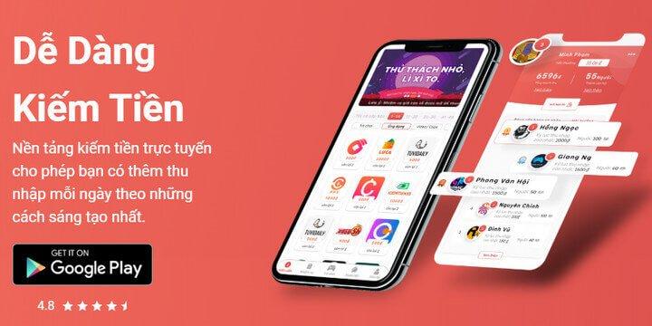 app kiếm tiền online luca 2020
