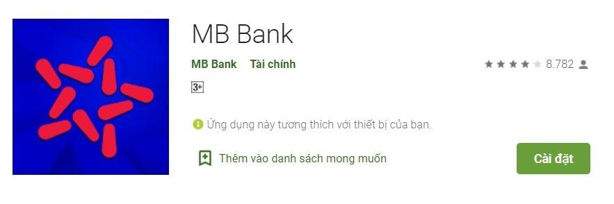 cài đặt app mb bank