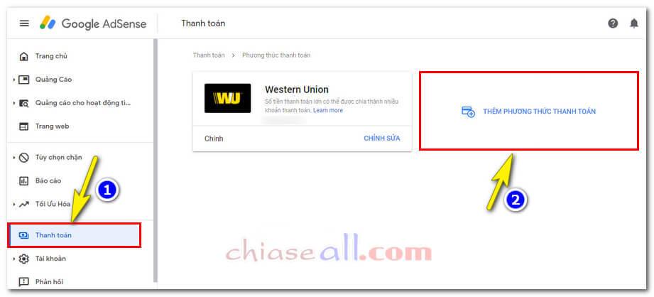 cách nhận tiền google Adsense qua ngân hàng