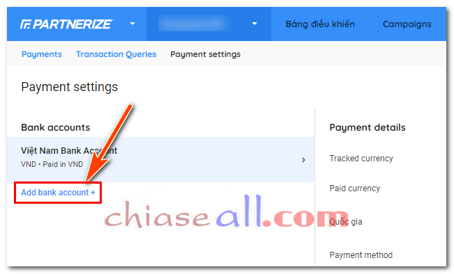 thêm thanh toán shopee affiliate