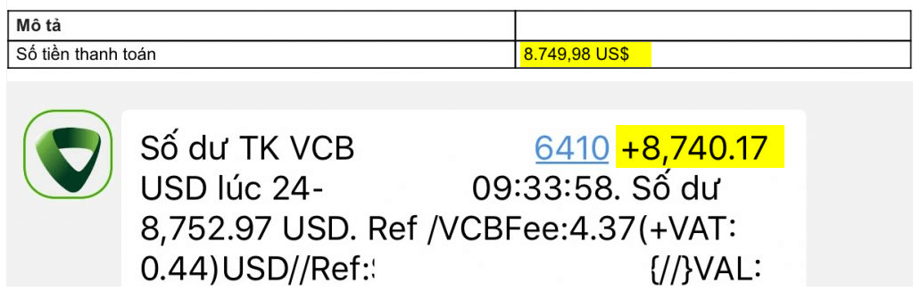 phí nhận tiền google adsense qua ngân hàng Vietcombank