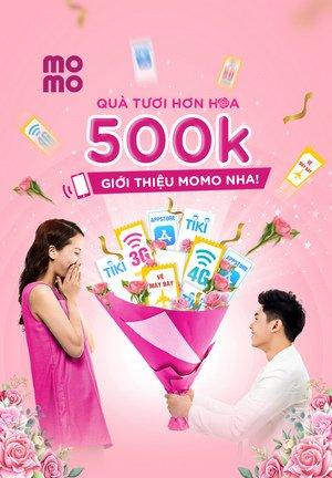 nhận quà 500k từ MoMo