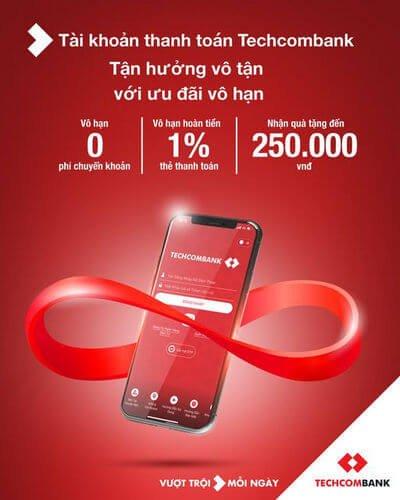 Kiếm tiền 250k với App Techcombank