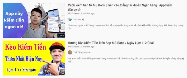 Hướng dẫn kiếm tiền từ MB Bank