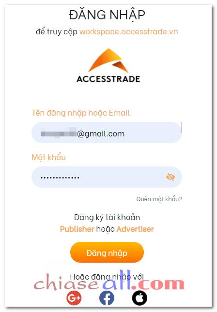 đăng ký tài khoản accesstrade 5