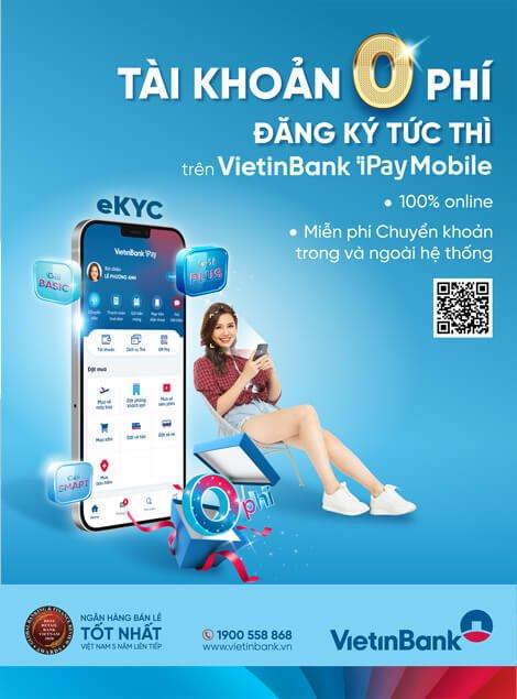 mở tài khoản vietinbank online